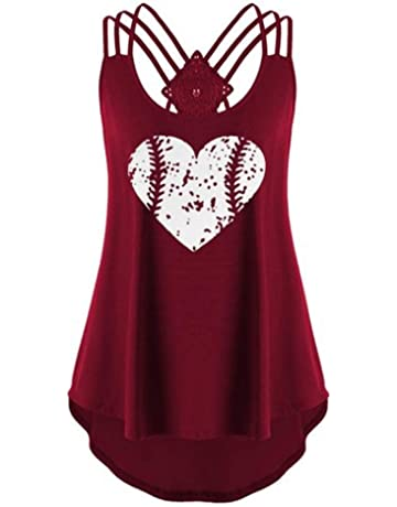 7a81d09b70 Gibobby Women Sleeveless Tank Top Racerback Letter Print Installing Muscles  Casual T-Shirts Blouse Vest
