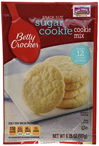 Betty Crocker Snack Size Sugar Cookie Cookie Mix - 6.25 Oz Each (Pack of 3)