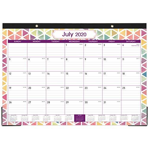 2020-2021 Desk Calendar - 18 Months Desk Wall Calendar, 17 ...