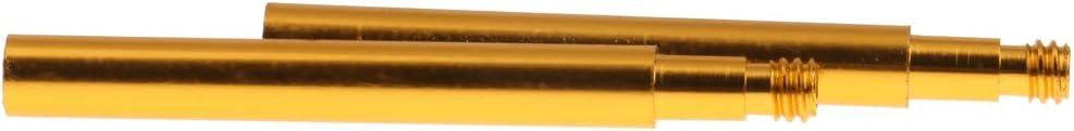 CUTICATE 2 St/ü Radfahren Fahrrad Presta Ventilverl/ängerungen Verl/ängerung 70mm Gold