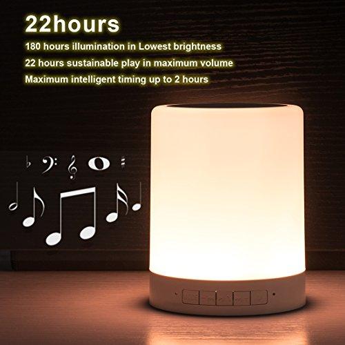 LED Touch Lamp speaker, Night Light Portable Bluetooth