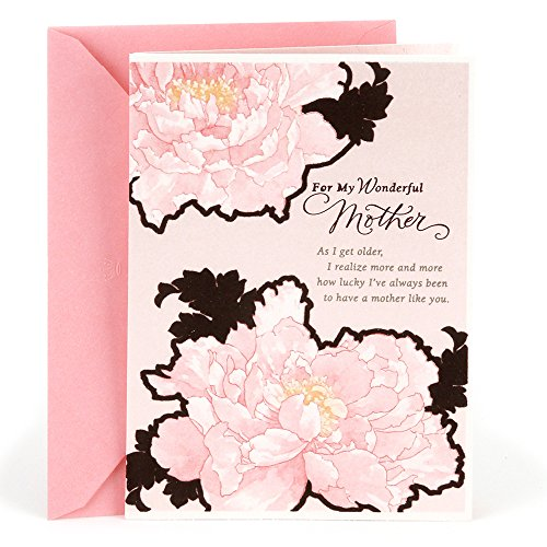 Hallmark Birthday Greeting Card to Mother (Pink Flowers)
