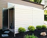 Arrow Yardsaver Pent Roof Steel Storage Shed, Eggshel