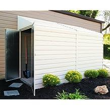 Arrow Yardsaver Pent Roof Steel Storage Shed, Eggshell, 4 x 10 ft.