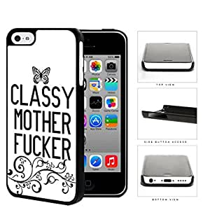 Classy Mother F*cker Butterfly Hard Plastic Snap On Cell Phone Case Apple iPhone 5c