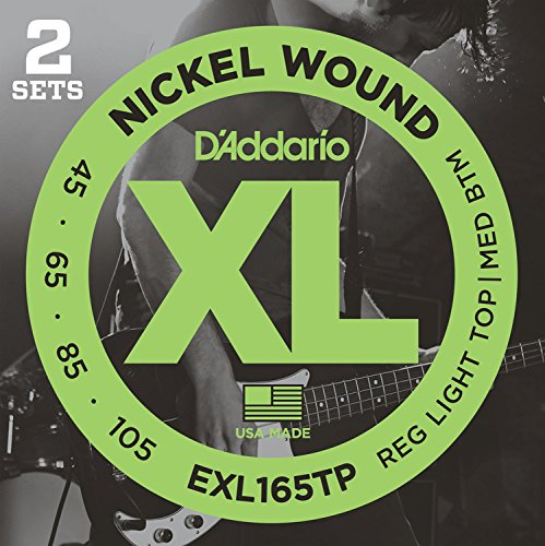 D'Addario EXL165TP Nickel Wound Bass Guitar Strings, Custom