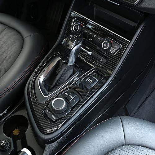 Karbonfaser Stil Für 218i Gran Tourer F45 F46 2015 2017 Abs Chrom Mittelkonsole Gangschaltung Rahmen Verkleidung Autozubehör Lhd Auto