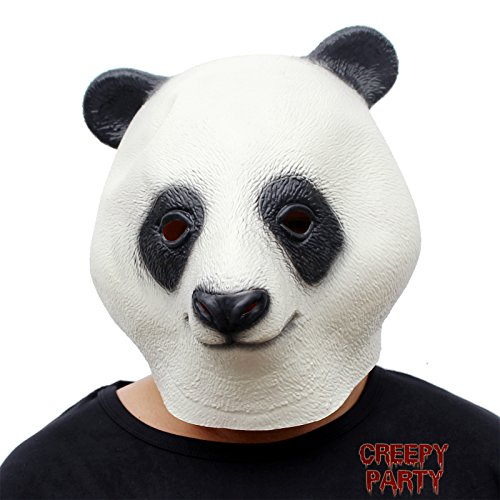 CreepyParty Novelty Halloween Costume Party Latex Animal Head Mask Giant Panda ()