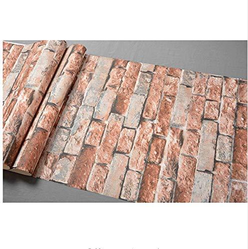W-S Vintage Faux Stone Brick Pattern Vinyl Wallpaper para Walls ...