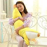 SUIE 1Pcs Soft Simulation Banana Plush Stuffed Toy Novelty Pillow Cushion Bolster
