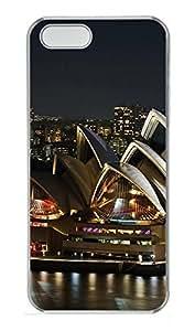iPhone 5 5S Case Brilliantly Illuminated Sydney Opera House PC Custom iPhone 5 5S Case Cover Transparent