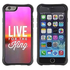Suave TPU GEL Carcasa Funda Silicona Blando Estuche Caso de protección (para) Apple Iphone 6 / CECELL Phone case / / BIBLE Live For The King /