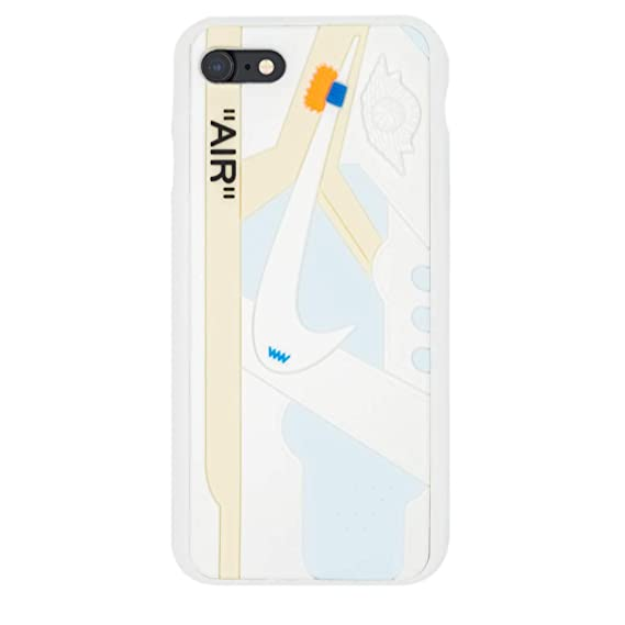 e7518a88a43e8 iPhone Shoe Case Chicago/White 1's Official 3D Print Textured Shock  Absorbing Protective Sneaker Fashion Case (White, iPhone 6/6s)