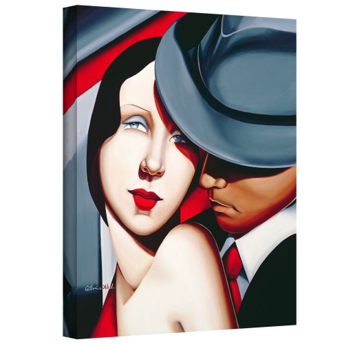 ArtWall 'Adam and Eve, Gangster Study' Gallery-Wrapped Canvas Art by Catherine Abel, 32 by 26-Inch