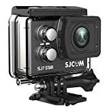 SJCAM SJ7 Star Wifi Action Camera, 4K@30FPS Ambarella A12 Chipset/2'' TouchScreen/Sony Sensor/ Wireless Remote Control/Gyro Stabilization,Waterproof Underwater Camera with Case Included- Black