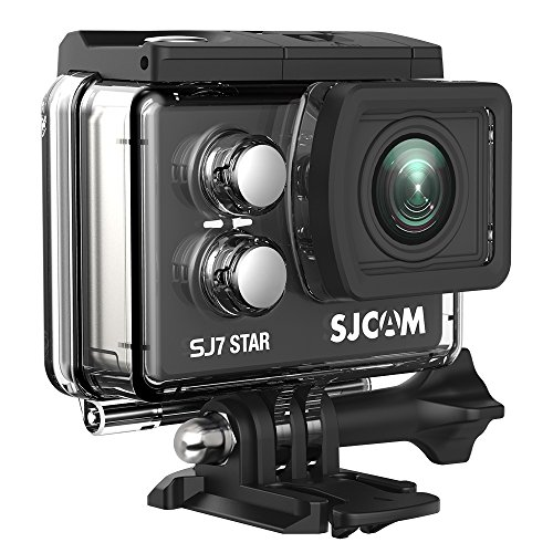 SJCAM SJ7 Star Wifi Action Camera, 4K@30FPS Ambarella A12 Chipset/2'' TouchScreen/Sony Sensor/ Wireless Remote Control/Gyro Stabilization,Waterproof Underwater Camera with Case Included- Black by SJCAM