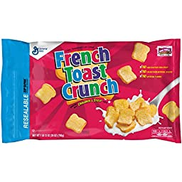 General Mills Cereals Cereal Zip Pack, French Toast Crunch, 28 oz