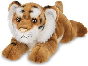 Bearington Saber Plush Stuffed Animal Tiger, 14 inches