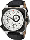 GV2 by Gevril XO Submarine Mens Swiss Quartz Black Leather Strap Watch, (Model: 4520)