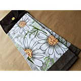 Daisy Hanging Kitchen Towel, Spring Button Top Towel, Floral Kitchen Linens, Home Decor, Hostess Gift, Housewarming Gift, Gifts under 20, Modern Kitchen Linens