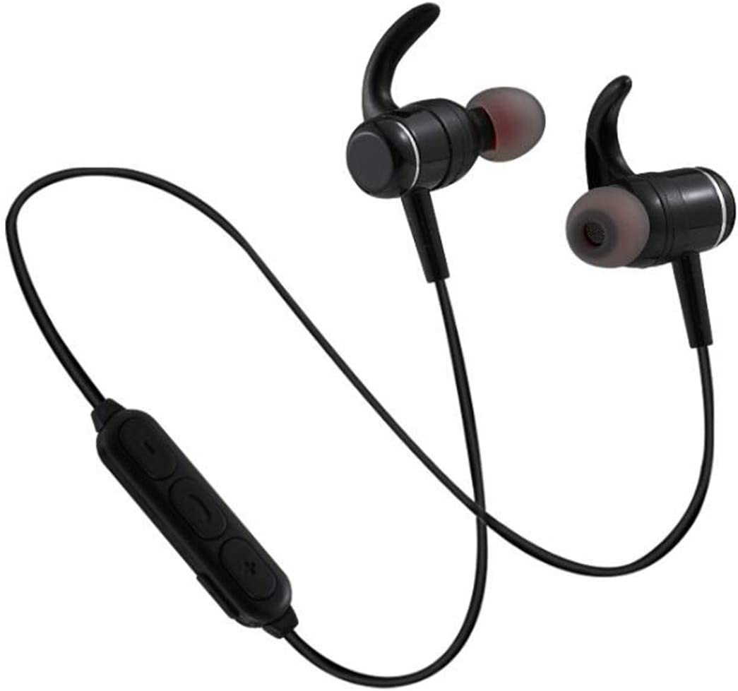 Tailbox Bluetooth Headphones – Magnetic Wireless Earphones Sport in-Ear Sweatproof Earbuds with Mic IPX6 Waterproof Stereo Neckband Headset, aptX Stereo, Fast Pairing, Secure Fit Design Black