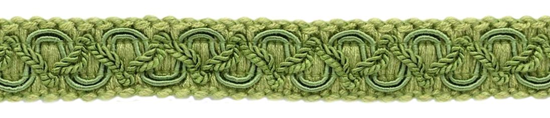 DÉCOPRO 24 Yard Package of 3/4 inch Basic Trim Decorative Scroll Gimp Braid, Style# 0075SGC Color: Alpine Green - L60 (72 Ft/21.9 Meters) by DÉCOPRO