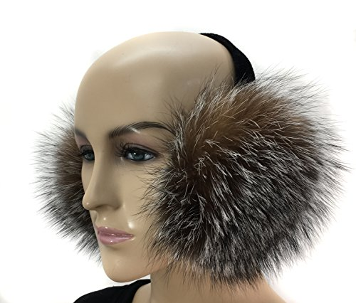 HIMA 100% Real Fox Fur Earmuff (Crystal Fox)