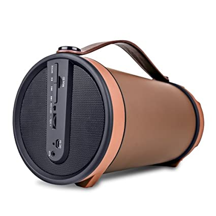 iBall Musi Barrel BT31 nbsp;Portable Bluetooth Speakers  Chocolate Brown  PC Speakers