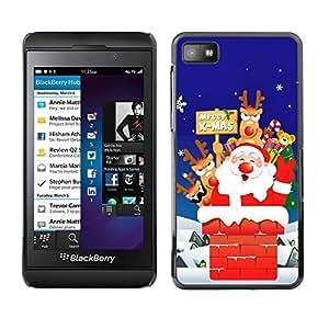 YOYO Slim PC / Aluminium Case Cover Armor Shell Portection //Christmas Holiday Santa Claus Holiday 1040 //Blackberry Z10