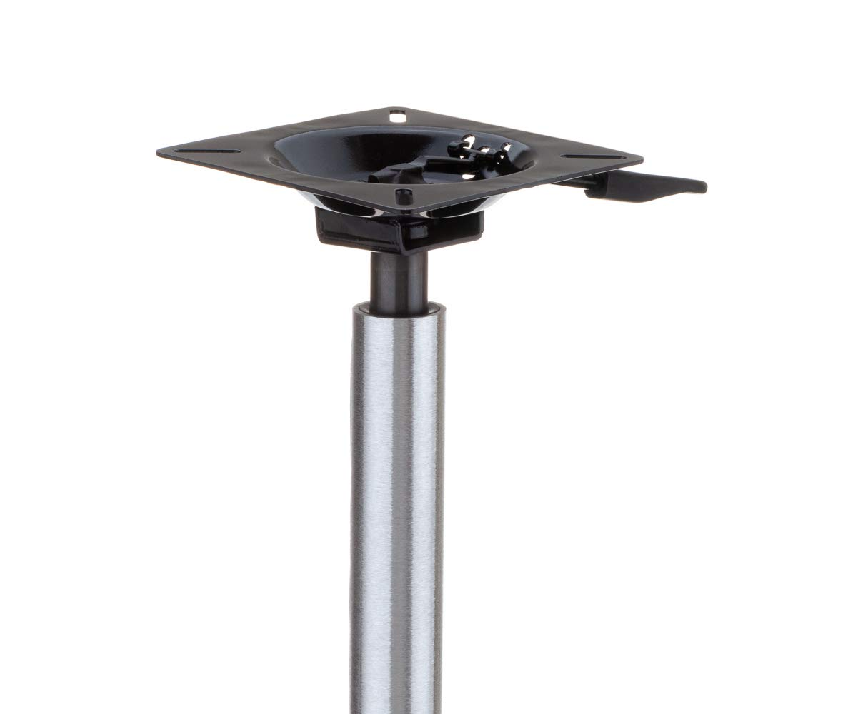 Attwood (ATTAA) Lock'N-Pin 3/4'' Adjustable Power Pedestal Boat Seat Pin Post With Mount SP-3204-T Threaded