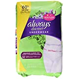 Always Discreet, Incontinence Underwear, Maximum Classic Cut, Small/Medium, 32 count- Packing may vary