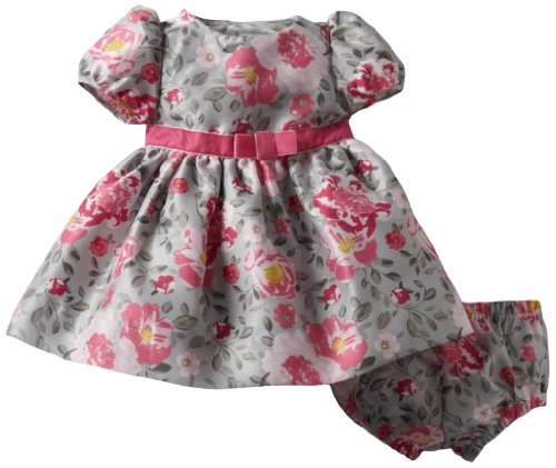 Hartstrings Baby-girls Newborn Shantung Dress and Diaper Cover Set