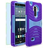 LG G Stylo / G4 Stylus / LS770 / H631 / MS631 Case, INNOVAA Turbulent Armor Case (Not Compatible with LG G4) W/ Free Screen Protector & Stylus Pen - Light Blue/Purple