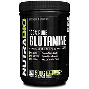 NutraBio 100% Pure L-Glutamine Powder