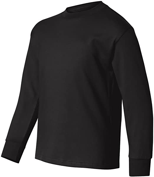 de9b12e0 Image Unavailable. Image not available for. Color: Hanes Children's Tagless  Long Sleeve T-Shirt ...
