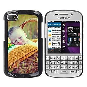 TopCaseStore / la caja del caucho duro de la cubierta de protección de la piel - Nature Cute Picnic Spring Mother - BlackBerry Q10