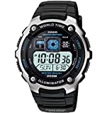 Casio Men's AE2000W-1AV Silver-Tone and Black Multi-Functional Digital Sport Watch