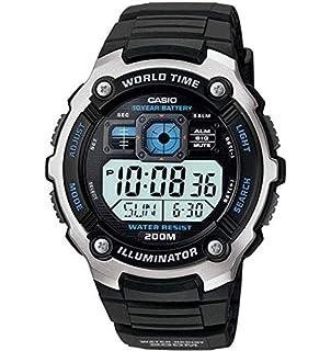 Amazon.com: Casio Mens AE1000W-1BVCF Silver-Tone and Black ...