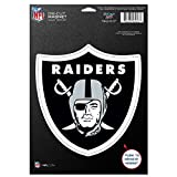 NFL Oakland Raiders 83777010 Die Cut Logo Magnet, Small, Black