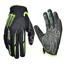 Black Green Gloves Cycling Gloves Mountain Bike Gloves Road Racing Bicycle Gloves Motorcycle Gloves Full Finger Gloves Thor ghostcrawler Gloves Men/Women Work Gloves