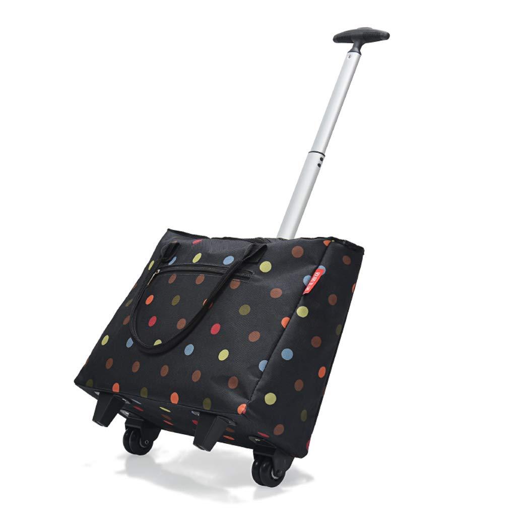 軽量のショッピングトロリートートバッグの車輪旅行バッグショッピング食料品の折り畳み式の携帯用カート旅行箱 (Color : A) B07NYY7W6H A