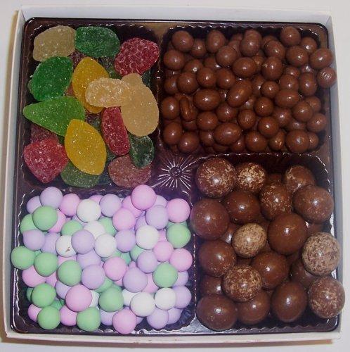 Scott's Cakes Large 4-Pack Pectin Fruit Gels, Chocolate Peanuts, Chocolate Dutch Mints, & Chocolate Malt Balls