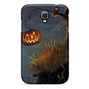 Excellent Cell-phone Hard Cover For Samsung Galaxy S4 With Provide Private Custom Lifelike Halloween Pumpkin And Owl Pattern JacquieWasylnuk