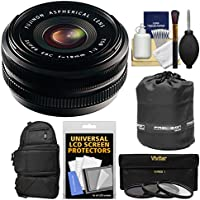 Fujifilm 18mm f/2.0 XF R Lens with 3 UV/CPL/ND8 Filters + Backpack + Pouch + Kit