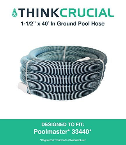 Durable 40 Ft Heavy Duty Swimming Pool Vacuum Hose, 1-1/2