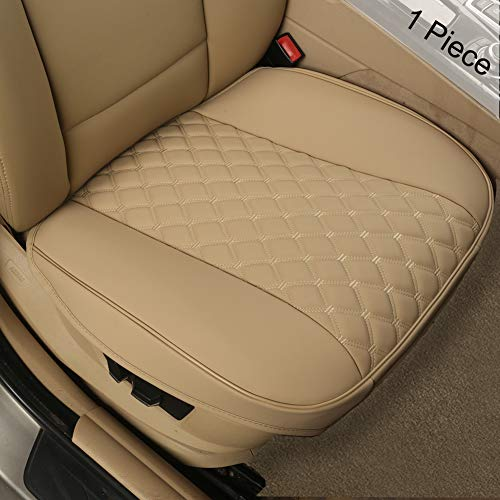 Black Panther PU Car Seat Covers,Universal Front Auto Seat Protector,Embroidery,Anti-Slip & Full Wrapping Edge (W 21.26''D -