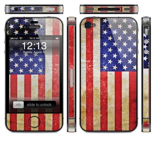 Skin für Apple iPhone 4s - USA -Flagge 2