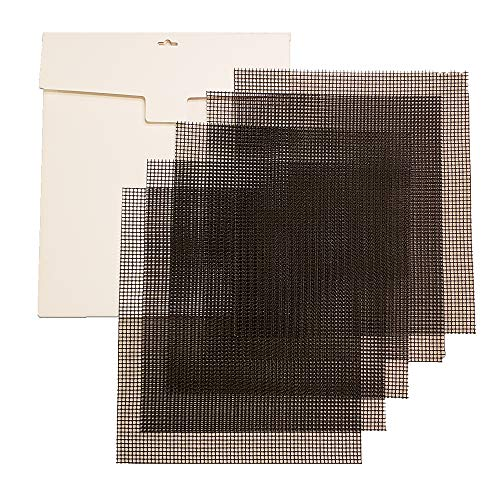 (Simply Homey Dehydrator Mesh Sheets - 14 x 14 Reusable, Permeable, Tray Inserts - 5 Black Flexible Weave Fiberglass Sheets Coated with Non-Stick Teflon)