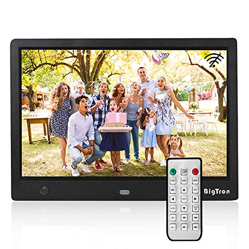BigTron 10.1 Inch 1280X800 Resolutin Digital Photo Frame (Non-WiFi) Include 32GB SD Card, HD Video Frame 16:9 300cd/㎡IPS Screen,Motion Sensor, USB and SD Card Slots with Remote Control Black