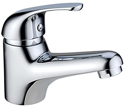 Aquieen Single Lever Basin Mixer Stone with SS Connection 450 mm and installation kit, Silver